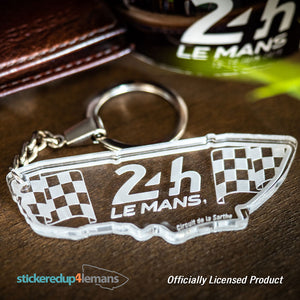 24h Le Mans Circuit Keyring - Acrylic - Officially Licensed Le Mans Keyring - StickeredUp4LeMans