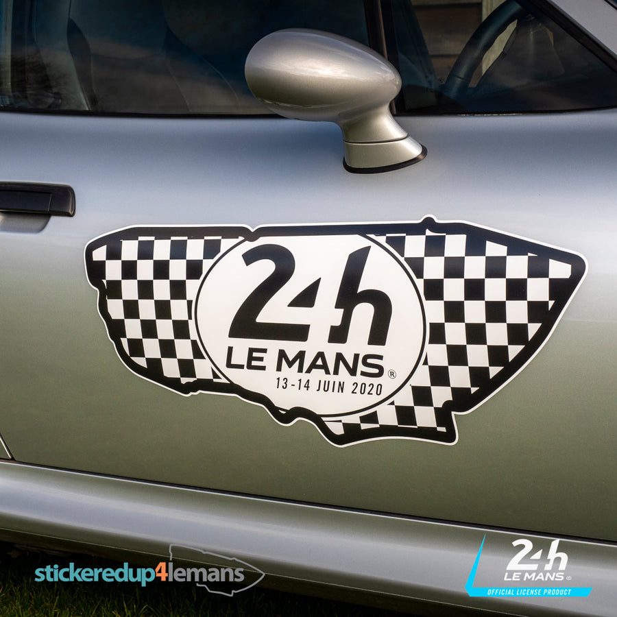 Official Le Mans Circuit Logo & Dates Sticker (Black & White) - Officially Licensed Le Mans Product - StickeredUp4LeMans