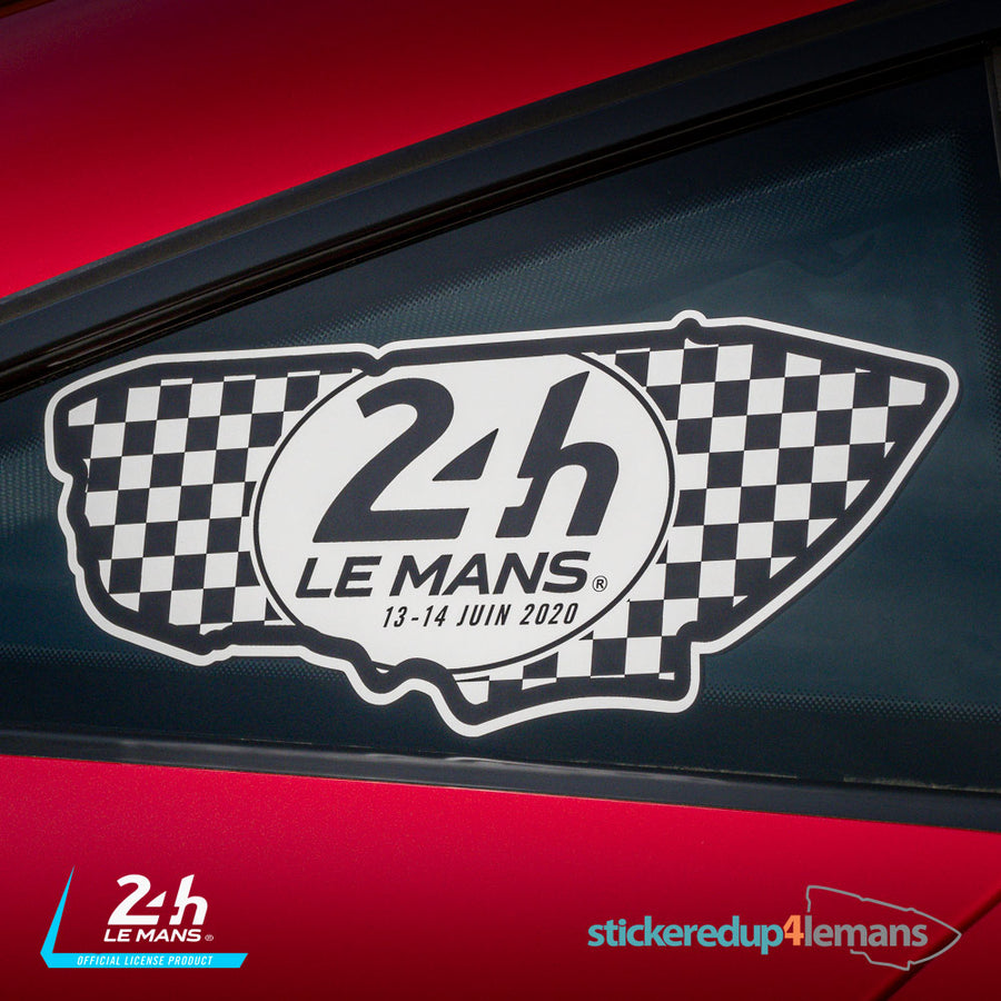 Official Le Mans Circuit Logo & Dates Sticker (Black & White)
