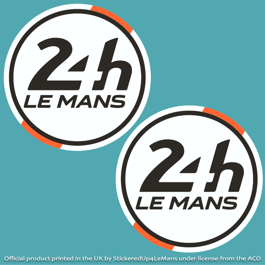 Marshal's Official 24h Le Mans Racing Door Roundels 395mm diameter (Pair of Stickers) - Officially Licensed Le Mans Product - StickeredUp4LeMans