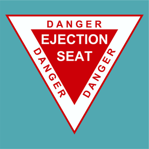 Danger Ejection Seat - Silly Stuff - StickeredUp4LeMans