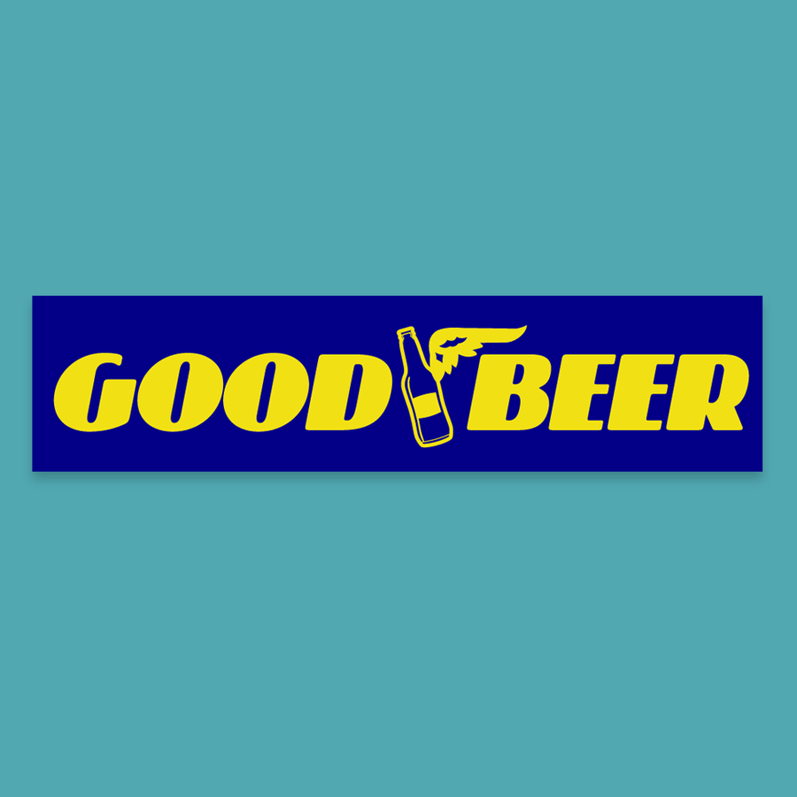 Good Beer (blue & yellow) - Silly Stuff - StickeredUp4LeMans