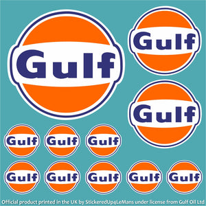 Gulf Multipack 1 - Officially Licensed Logo Pack - Gulf - StickeredUp4LeMans