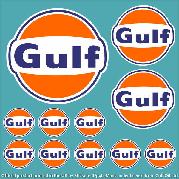 gulf multipack 1 - officially licensed logo pack - stickeredup4lemans