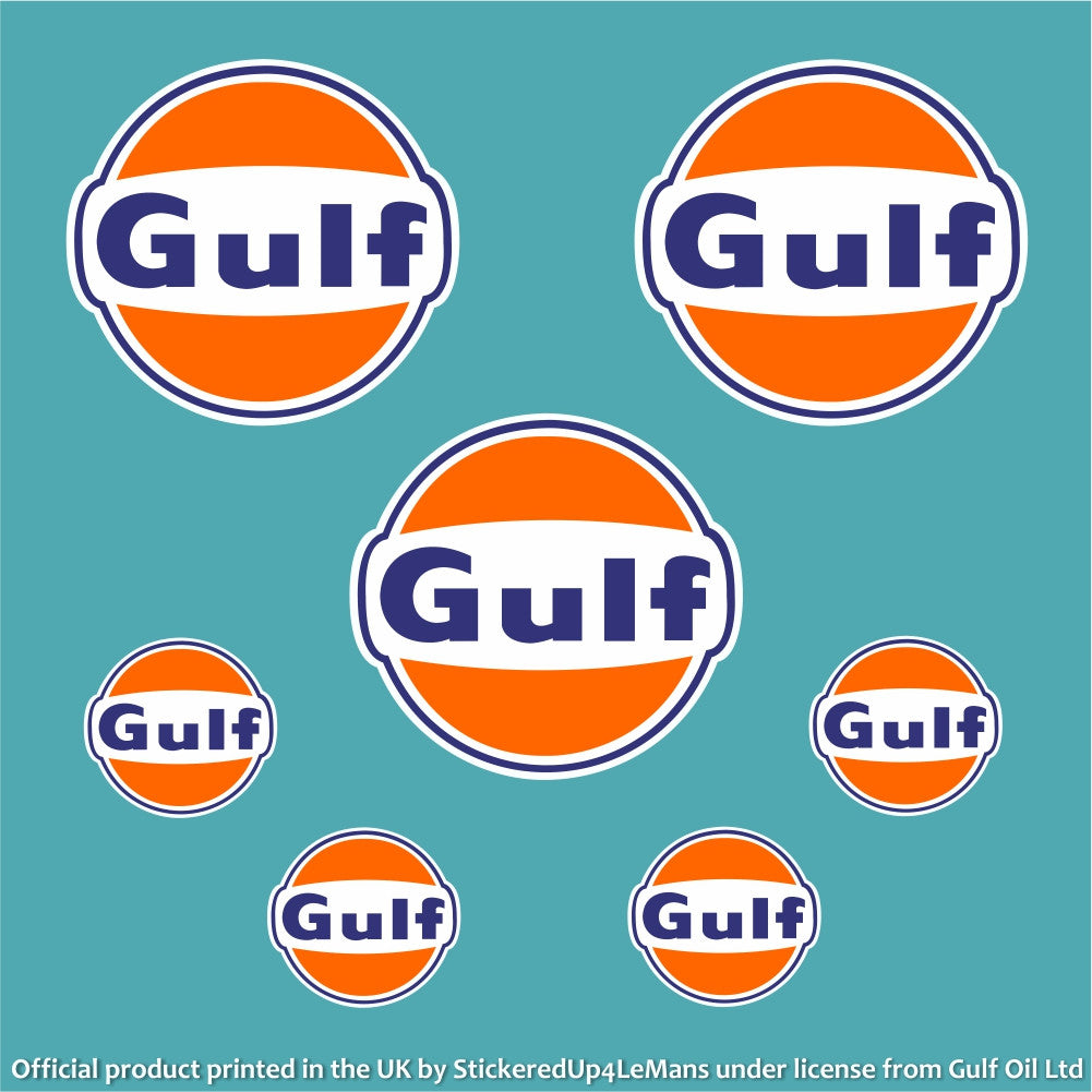 Gulf Officially Licensed Gulf Oil Stickers