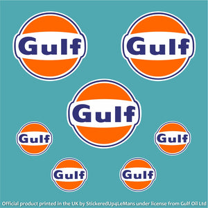 Gulf Multipack 2 - Officially Licensed Logo Pack - Gulf - StickeredUp4LeMans