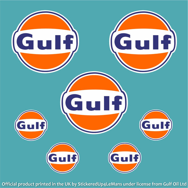 gulf multipack 2 - officially licensed logo pack - stickeredup4lemans