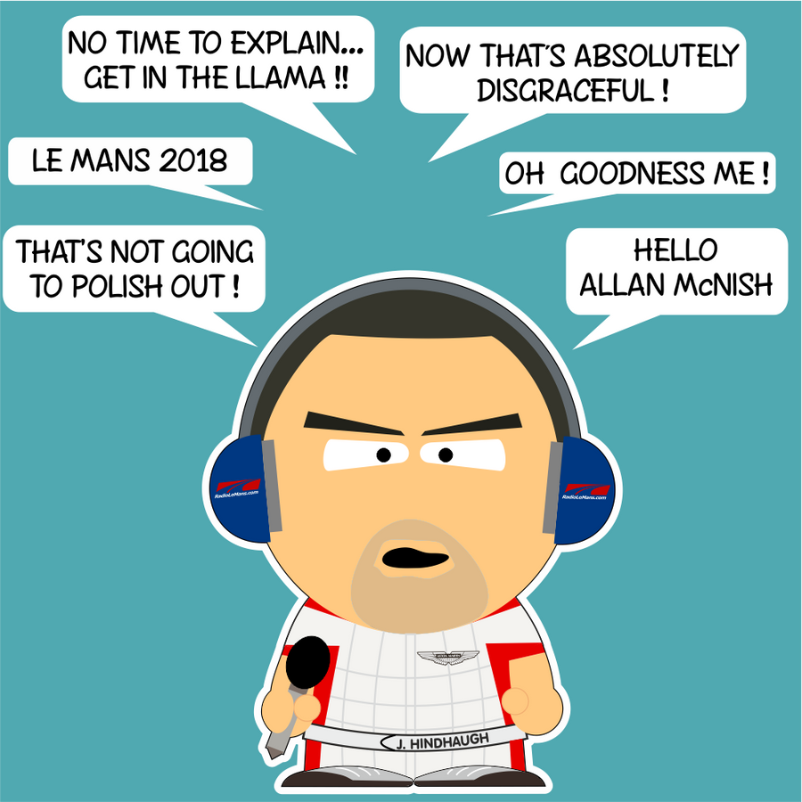 Hindy Cartoon 2018 - Radiolemans - StickeredUp4LeMans