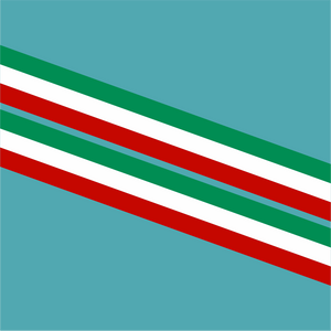 Double Italian Flag Style Stripes - Stripe - StickeredUp4LeMans