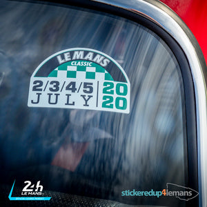 JULY 2020 VERSION Le Mans Classic Logo Sticker