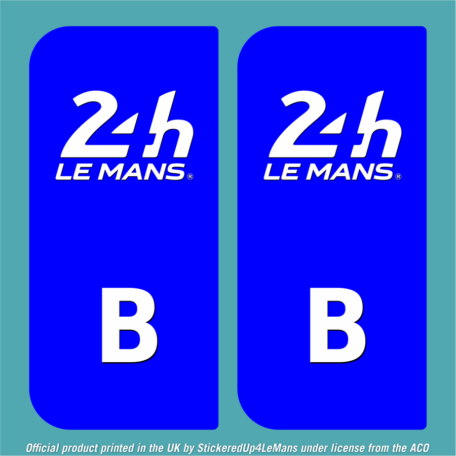 Official Le Mans European Numberplate sticker - Officially Licensed Le Mans Product - StickeredUp4LeMans