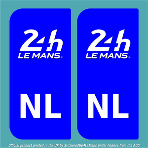 Official Le Mans European Numberplate sticker