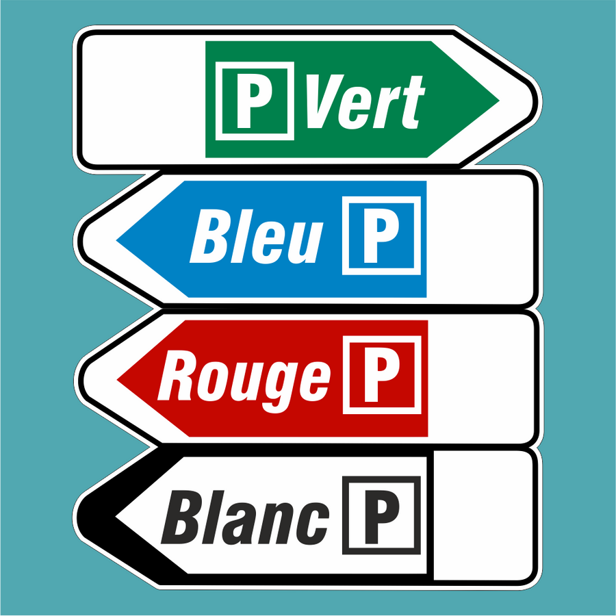 Parking Signs Sticker