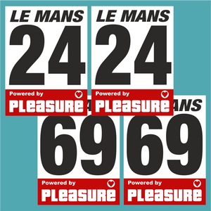 Powered by Pleasure Door Numbers (Pair)