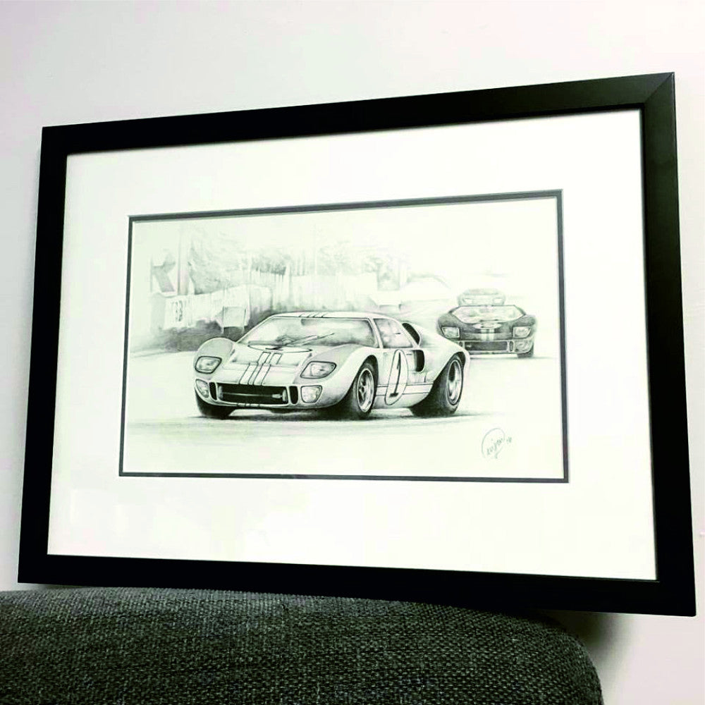 1966 50th Anniversary of Ford GT40 Win at Le Mans Print