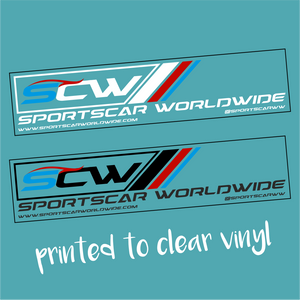 Sportscar Worldwide Sticker (Printed to clear) - Sportscar Worldwide - StickeredUp4LeMans
