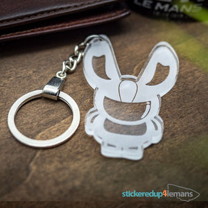 White Rabbit Racing 'The Rabbit' Keyring - White Rabbit Racing - StickeredUp4LeMans