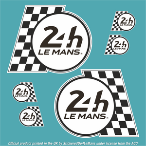 Official Le Mans Side Panel Flag Logo Sticker (2 Large & 4 Small) - Officially Licensed Le Mans Product - StickeredUp4LeMans