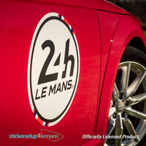 Official Le Mans Flag Racing Bonnet Stripe with logo Sticker (matching door numbers available as an option)