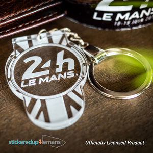 24h Le Mans Tab Keyring - Acrylic - Officially Licensed Le Mans Keyring - StickeredUp4LeMans