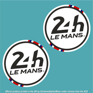 Official Le Mans 24h Le Mans Racing Door Roundels 395mm diameter (Pair of Stickers) - Officially Licensed Le Mans Product - StickeredUp4LeMans