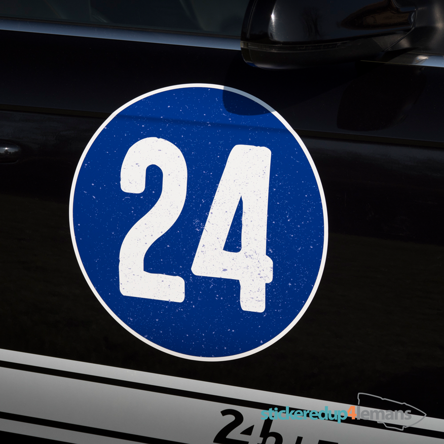 Vintage 24 Blue Roundel - Numbers - StickeredUp4LeMans