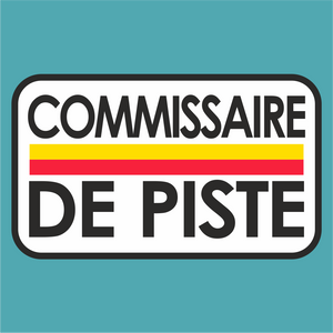 Vintage Commissaire de Piste Le Mans Marshal Sticker - Marshal - StickeredUp4LeMans