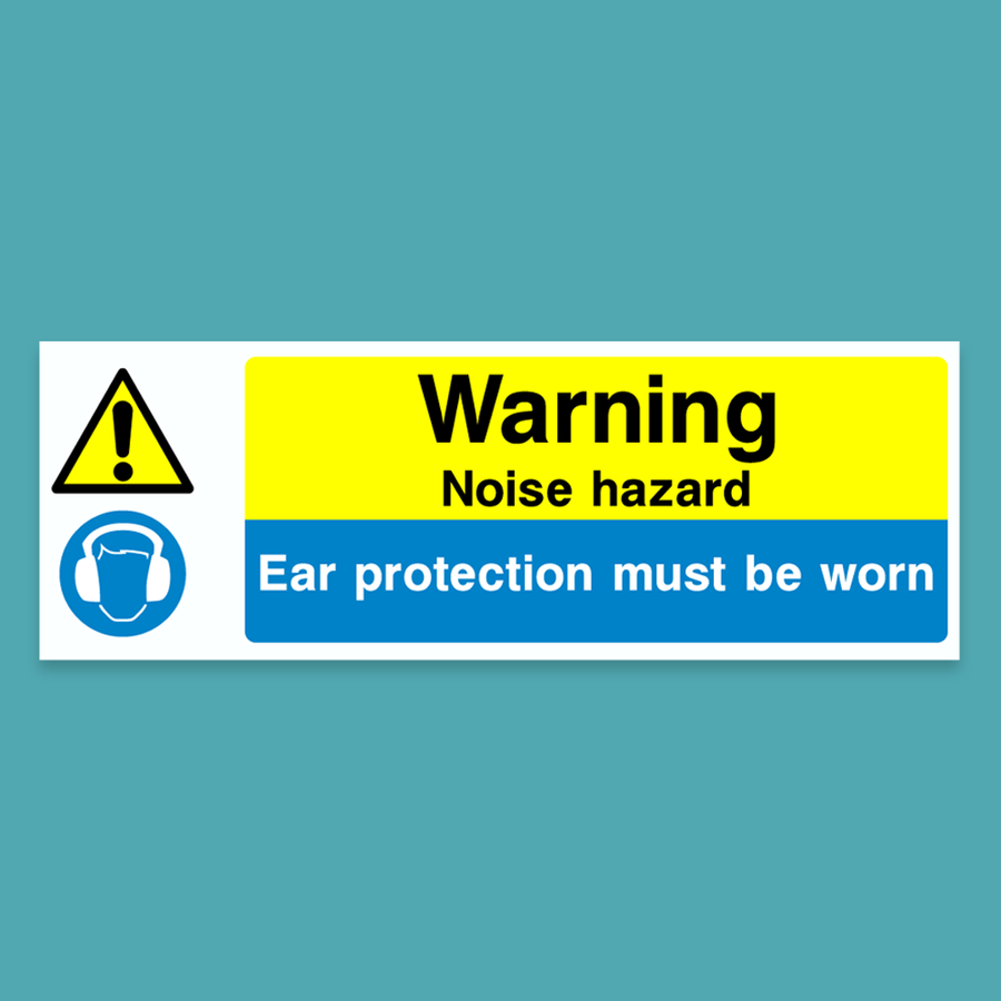 Warning - Noise Hazard - Silly Stuff - StickeredUp4LeMans