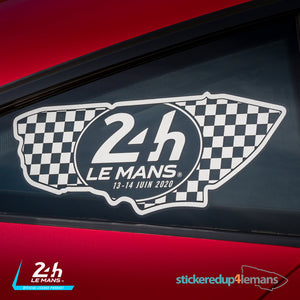 Official Le Mans Circuit Logo & Dates Sticker - Officially Licensed Le Mans Product - StickeredUp4LeMans