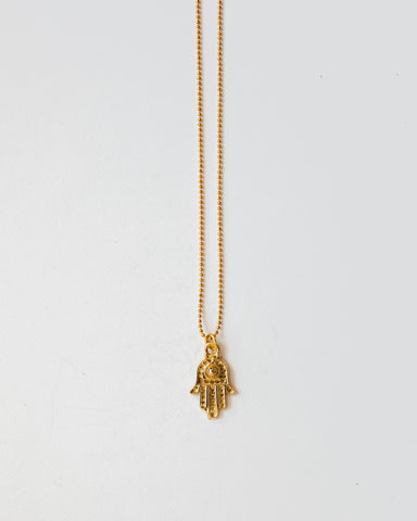 Hamsa Necklace-necklace-CUMBIA