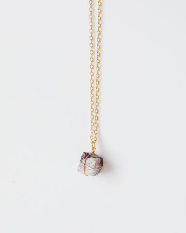 Amethyst Necklace-necklace-CUMBIA