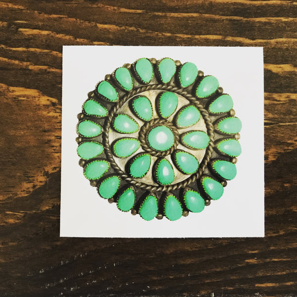 STATIONARY Turquoise Pendant Sticker