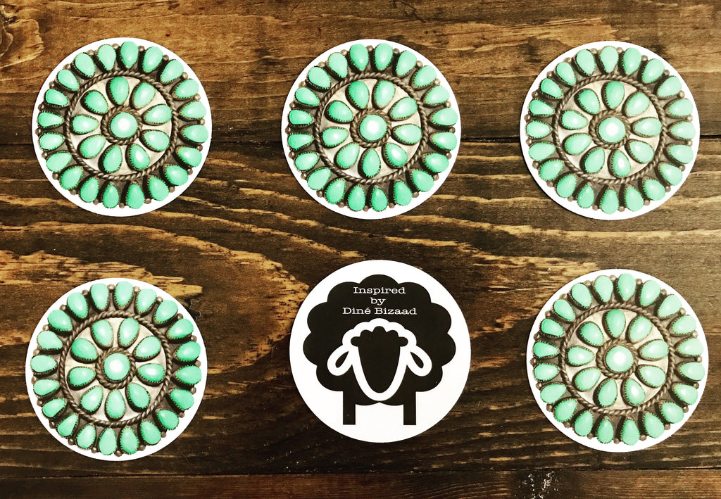 ONE Turquoise Pendant Sticker (3 mil grade)