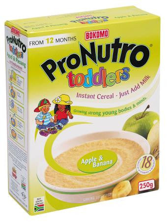 Bokomo Apple & Banana Toddlers Cereal 250 GR