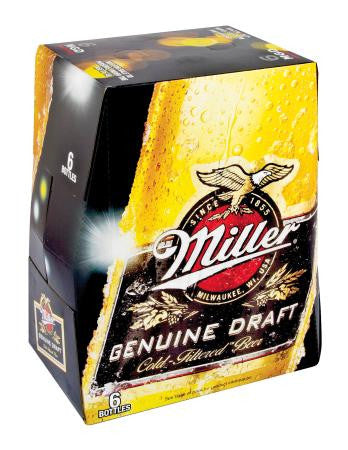 Miller Genuine Draft Beer Nrb 330ml x6