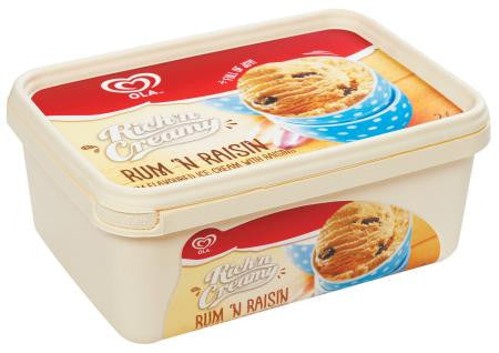 Ola Rich'n Cream Rum And Raisin Ice Cream 2 L