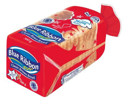 Blue Ribbon Classic Brown Sliced Bread 700g