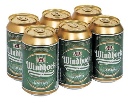 Windhoek Lager Can 330 Ml x6
