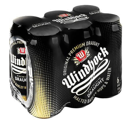 Windhoek Draught Can 440 Ml x6