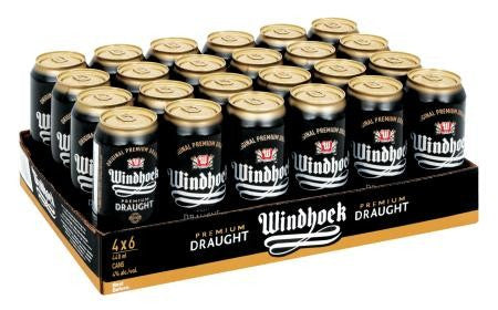 Windhoek Draught Can 440 Ml x24