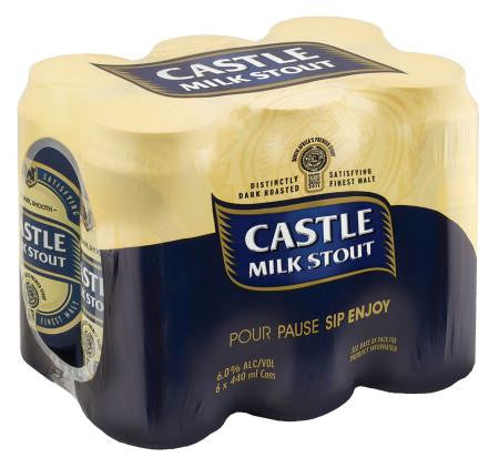 Castle Milk Stout Can 440ml x6