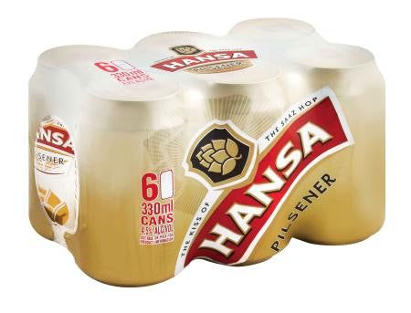 Hansa Pilsener Beer Can 330ml x6