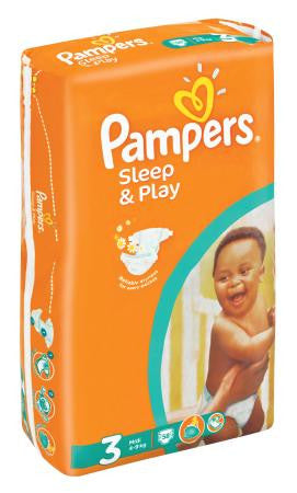 Pampers Sleep and Play MidiValue Pack 58ea