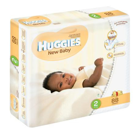 Huggies New Baby Size 2 From3-6kg Jumbo Pack 88ea
