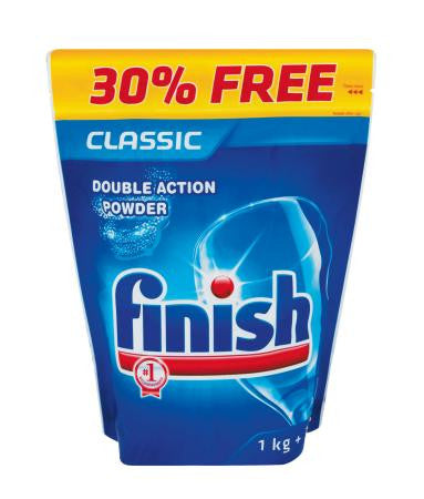 Finish Dishwash Powder Pouch 1kg + 300g Free