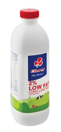 Clover UHT Long Life 2% Low Fat Milk1 Litre