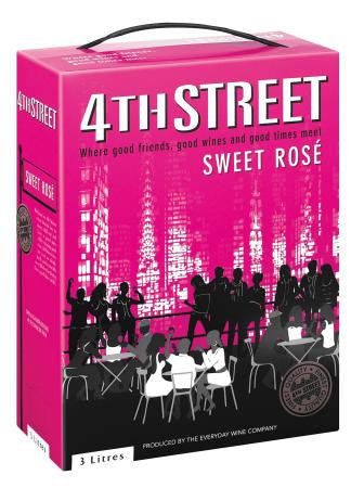 4th Street Natural Sweet Rose 3 L
