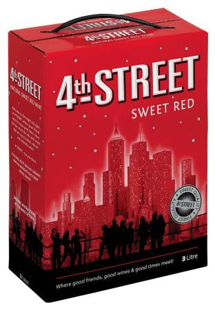 4th Street Natural Sweet Red 3 L