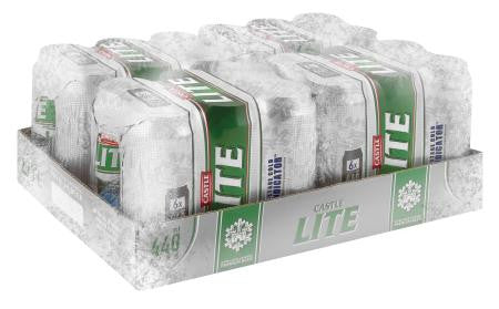 Castle Lite Beer Can 440ml x24
