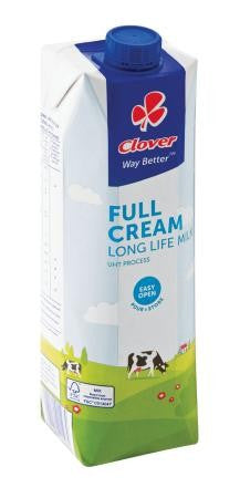 Clover UHT Long Life Full Cream Milk 1l
